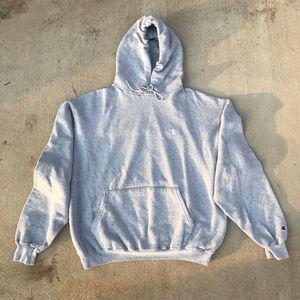 Champion Sweaters - Champion Grey Hoodie Sz L